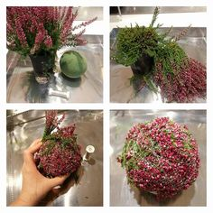 Beautiful deco inside or at the porch. Artificial Flower Arrangements, Artificial Flowers, Flower Decorations, Christmas Decorations, Deco Floral, Flower Show, Diy Garden Decor, Dried Flowers, Homemade Gifts