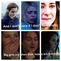Big girls cry ~ Sia Hermione, Rose, Tris, Katniss, Hazel, Teresa