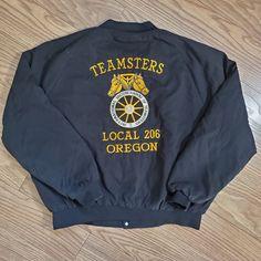 Teamsters Union Local 206 Oregon Jacket on Mercari Workers Union, Union Made, Zine, Logo Branding, Oregon, Overalls, Usa, Sweatshirts, Sweaters
