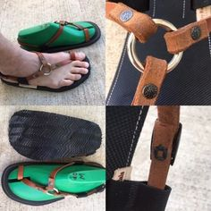 Ring sandal, brown leather, non-slip base, trail tread, thick. Running Sandals, Gladiator Sandals, Men Sandals, Male Fashion Trends, Mens Slippers, Paisley, Brown Leather, Flip Flops, Shoemaking