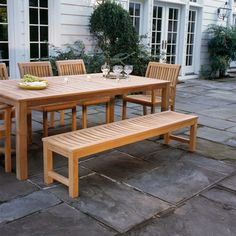 The Kingsley Bate Waverley Backless Benches Have Seat Slats That Are  Scooped For Comfort, Making The 5u0027 Or 6u0027 Excellent Benches To Accompany  Longer Dining ...