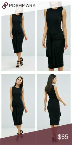 ASOS Slinky Tie Front Detail Dress LOWEST NWTs. Poly/elastane blend ASOS Dresses Midi