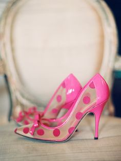 Pink polka dot Kate Spade shoes