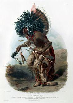 * Pehriska-Ruhpa of the Dog Society of the Hidatsa Tribe of Native Americans * (by Karl Bodmer).