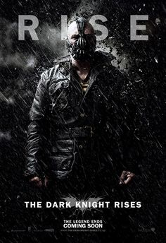 The Dark Knight Rises character poster for the villain Bane. #thedarkknightrises #batman #bane