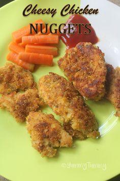 Cheesy Chicken Nuggets Recipe - Kids Special Recipes