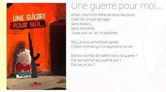 Le 12 août, j'achète...«Une guerre pour moi» Rage, Album Jeunesse, Books, Text Posts, War, Reading, Children, Searching, Livros