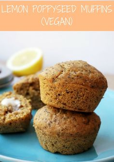 Lemon Poppyseed Muffins (Vegan)