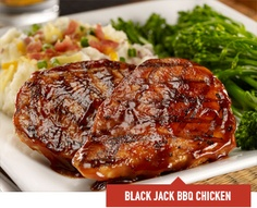 Black Jack BBQ Chicken - Two chicken breasts, grilled and glazed with ...