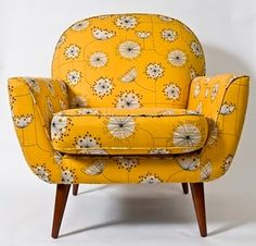 Love this!! Monty Chair in Dandelion Mobile Fabric from Nathan and MissPrint