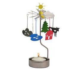 Περιστροφικό κηροπήγιο Ήλιος και Σύννεφα 18cm Pluto Produkter Cool Gifts, Gift Ideas