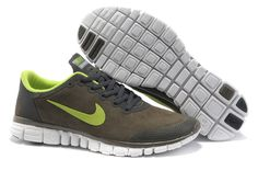 sports shoes ab58a 059af Nike Free Run Hommes Suede Shoes carbone frêne vert, nike free run 3 avis