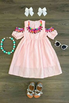 Shop our adorable collection of baby clothes! From cute dresses and rompers to adorable overalls, your baby is going to be the most fashionable on the block! Shop the baby collection today! Baby Girl Fashion, Toddler Fashion, Toddler Outfits, Kids Outfits, Kids Fashion, Cute Outfits, Little Girl Dresses, Girls Dresses, Little Fashionista