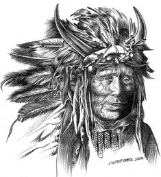indian chief deviantart native drawings american drawing pencil tattoo cheif charcoal tattoos easy sketch sketches skull animal symbols animals indians