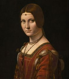 Musée du Louvre - La Belle Ferronnière, famous portrait by Leonardo da Vinci, Abu Dhabi, Grace Art, Cartography, Minimalist Art, Portrait, Online Art Gallery, Art Museum, Art Projects, Mona Lisa