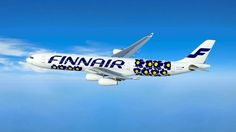 Finnair. You'll be seeing more poppy flowers in the air; Two long-haul Airbus A340 will feature Maija Isola's iconic Unikko floral print from 1964. One is already operating between Helsinki and Finnair's Asian destinations, and it will be followed by another aircraf this spring. a press release announcing the collaboration. The aircraft will also carry Marimekko for Finnair collection of textiles and tableware, featuring Marimekko's classic patterns.