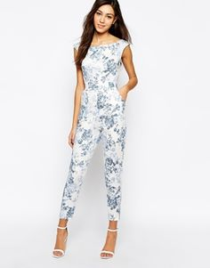 Enlarge Love Bardot Jumpsuit In Antique Print