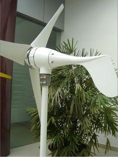 Sustentabilidade Energética Solar Termosolar e Eólica :  Turbina Eólica 800W Esta Turbina pode Trabalhar c...