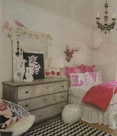 Feminine Chic Bedroom. Designer Sally Wheat.
