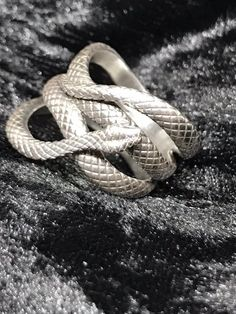 b7a9a42c2bb90 Detailed wrap around snake ring. Cast in hallmarked sterling silver, then  finished in my