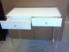 Lucite/Acrylic Vanity/Personal Desk by NewYorkAcrylics