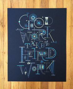 Brent Couchman Diseño e Ilustración - Shop - Buen trabajo requiere de mucho trabajo - $ 40