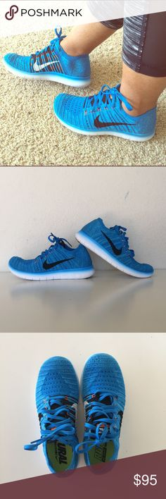 Nike Free RN Flyknit size 6.5 (23.5cm) 100% Authentic and Brand New Nike Free Flyknit RN youth size 4.5, women size 6.5 (23.5cm) Nike Shoes Sneakers