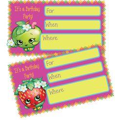 ADORABLE AND FREE Shopkins Birthday Party Invitations Via Mandyspartyprintables