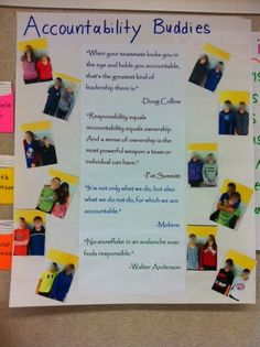 What a wonderful idea! Have students help each other in holding their peers accountable.   www.teachthis.com.au