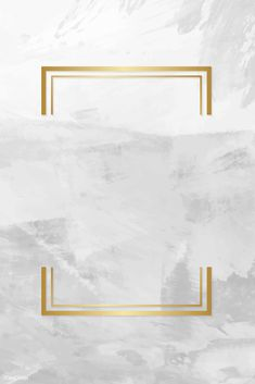 Gold rectangle frame on a gray concrete textured background