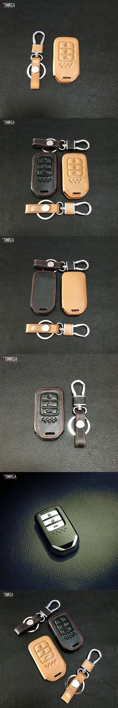 Hot Sale Exquisite Car Key Shell Cover Leather Smart Case Key for Honda Fit Hr-V Civic Protection accort 3 button remote control