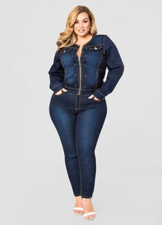 Contrast Stitch Skinny Jean