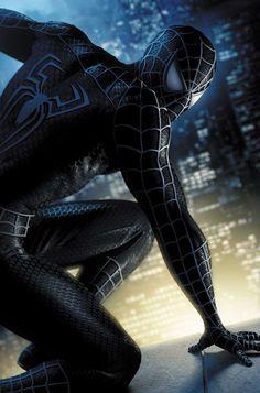 Spiderman 3 by Jeremy Roberts Amazing Spiderman, Black Spiderman, Spiderman Noir, Spiderman Kunst, Hq Marvel, Marvel Dc Comics, Marvel Heroes, Female Superhero, Superhero Movies