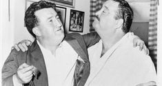 Brendan Behan with Jackie Gleason in Gleason's dressing room in Photograph: Walter Albertin / Library of Congress Miss America Contestants, The Lost Weekend, Dublin Pubs, Large American Flag, Fats Waller, Norman Mailer, Jackie Gleason, British National, Tennessee Williams