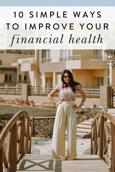 10 Simple Ways To Improve Your Financial Health | Personal Finance Tips | Need some money management advice? Click for tips to help you reduce financial stress through budgeting, saving money, avoiding debt, learning how to pay off debt, investing in retirement early, reducing expenses with frugal living and adopting a healthy money mindset. | Financial Goals | How To Budget | How To Save Money | Four Wellness #personalfinance #savemoney #budget #moneymindset #moneymanagement Financial Stress, Financial Goals, Budget Help, Workplace Wellness, Wellness Tips, Finance Tips, Health Coach, Money Management, Simple Way