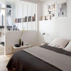 La verrière qui donne sur la chambre, pour dormir sur ses deux oreilles... Crédit photo : Pinterest/premieretage.com