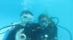 Under the water in the best honeymoon ever! ...