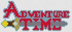 Adventure Time logo cross stitch pattern. Free ($0).