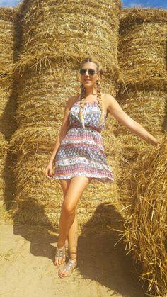 """@MissGlamazone joue à la """"Belle des champs"""" avec sa petite #robe d'#été #babou (à 10€)"""