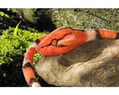 Wąż jak żywy!, Filcowy naszyjnik, ozdoba lub zabawka, rzeźba z filcu. - Jirsa Felt   Jirsa Felt Recznedzielo - czyli filc w 100 odsłonach - filcowa torebka, biżuteria z filcu, to oferuje Studio Rękodzieła Artystycznego