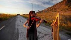 River Flows in You.  Music video by Lindsey Stirling and Debbie Johanson. http://lstirling.weebly.com/river-flows-in-you.html
