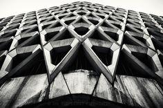 architecture ncp car park marylebone lane london uk modernist contemporary concrete brutalist brutalism rob cartwright leading lines D700 wide angle bw black & white mono