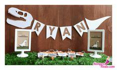 Increíbles ideas para una fiesta de cumpleaños de dinosaurios. Encuentra todos los artículos para tu fiesta en nuestra tienda en línea: http://www.siemprefiesta.com/fiestas-infantiles/ninos/articulos-fiesta-de-dinosaurios.html?utm_source=Pinterest&utm_medium=Pin&utm_campaign=Dinosaurios