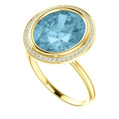 4.50 ct Oval Aquamarine & Diamond Cocktail Ring 18k White Gold, Aquamarine Jewelry, Anniversary or Wedding Gifts for Women, Engagement Rings, Fine Jewelry, Gemstone Birthstone Rings Cocktail Rings RAVEN FINE JEWELERS