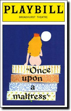 Playbill Cover for Once Upon a Mattress at Broadhurst Theatre - Opening Night 1996