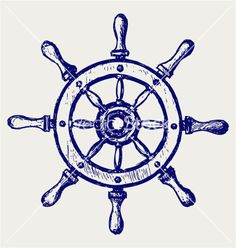 Illustration of Wheel marine wooden vector art, clipart and stock vectors. Helm Tattoo, Compass Tattoo, Future Tattoos, New Tattoos, Tatoos, Temporary Tattoos, Bussola Tattoo, Ship Wheel Tattoo, Tattoo Ship
