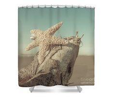Starfish Shower Curtain Nautical Bathroom Beach by LucidMood