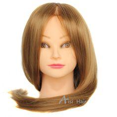 """20 """"머리 마네킹 머리 머리 가짜 미용 인형 머리 훈련 마네킹 합성 manik 미용 교육 판매"""