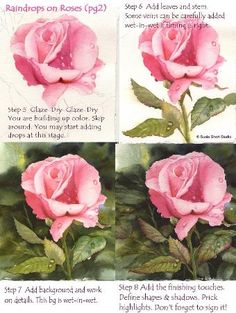 Watercolor Lessons-Tips-Raindrops on Roses with Susie Short