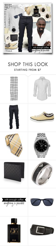 """""""With enough coffee"""" by julyralewis ❤ liked on Polyvore featuring Yves Saint Laurent, Louis Vuitton, Saks Fifth Avenue, Rolex, Emporio Armani, WALL, Cartier, Giorgio Armani, Stefano Ricci and men's fashion"""